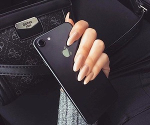 iphone, nails, and iphone 7 image