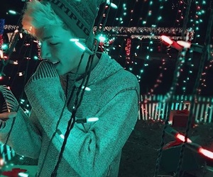 beanie, christmas, and lights image