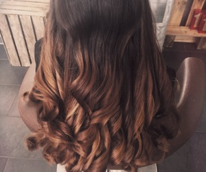 brown, caramel, and curls image