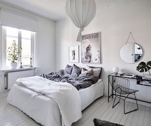 bed, clean, and grey image