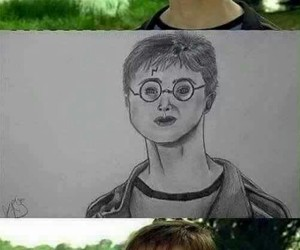 caps, funny, and harry potter image