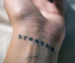 tattoo, breathe, and hand image