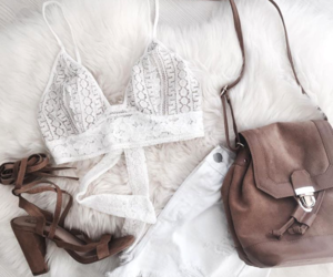 bag, fashion, and lace image
