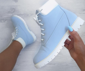 shoes, blue, and baby blue image