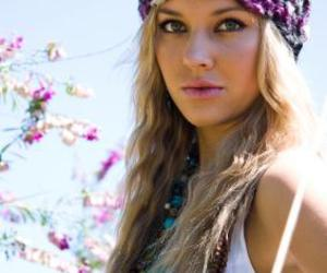 blonde girl, hippie, and necklaces image