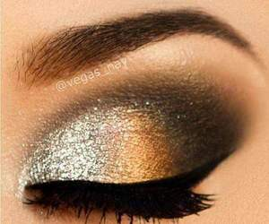 silver, eyemakeup, and glitter image