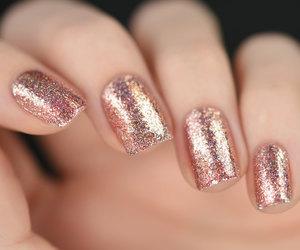 beautiful, nails, and glitter image