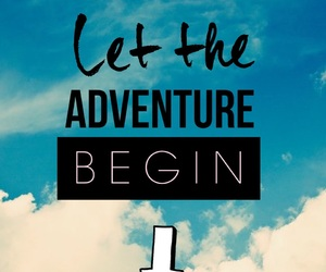 adventure, quote, and sky image