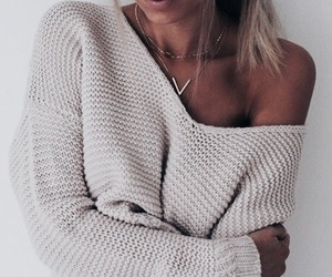 fashion, knit, and girl image