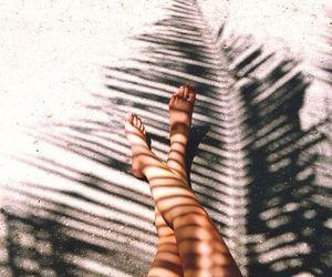 beach, girl, and shadow image