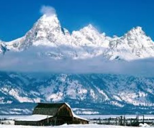 grand, snow, and wyoming image