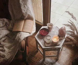book, fall, and home image