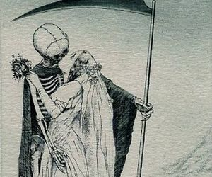 death, skull, and art image