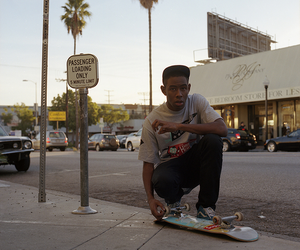skateboard, snap back, and tyler the creator image