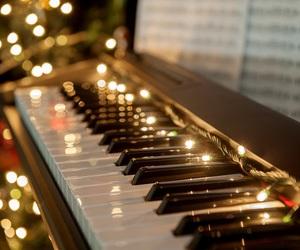 christmas, music, and piano image