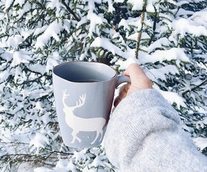 cup, snow, and winter image