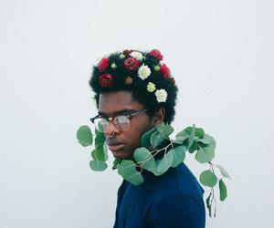 alternative, boy, and flower image