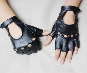 gloves, aesthetic, and black image