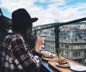 food, girl, and city image