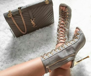 heels, shoes, and YSL image