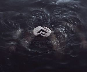 water, hands, and sea image