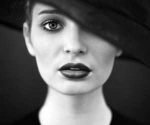 black, hat, and photography image