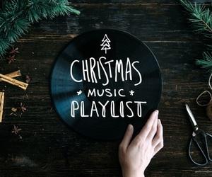 christmas, music, and playlist image