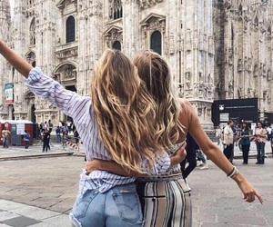 friends, girl, and travel image