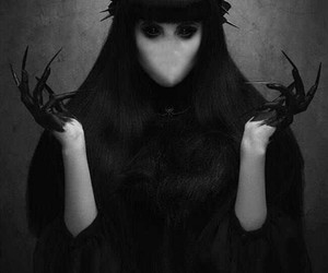 faceless, gothic, and witch image