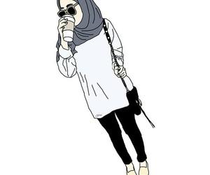 hijab, girl, and hijâbi image