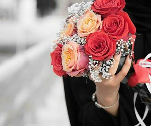accessories, flowers, and red image