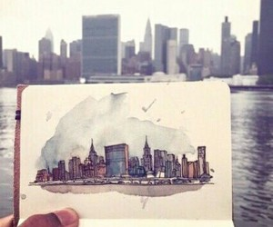 art, city, and drawing image