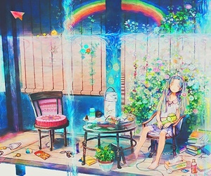 anime, flower, and anime girl image