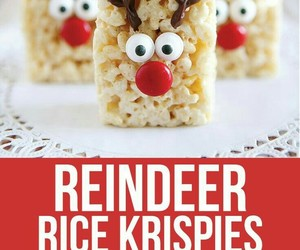 reindeer, rice krispies, and treats image