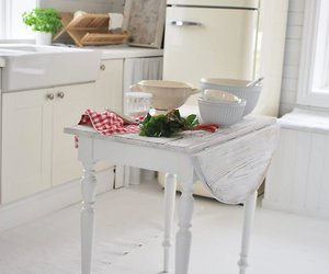 kitchen, rustic, and white image