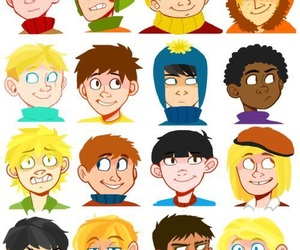 butters, cartman, and kenny mccormick image