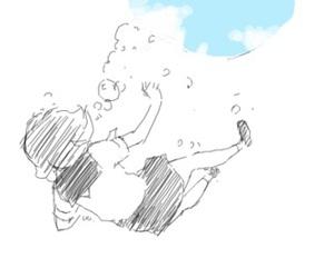 anime, girl, and sketch image