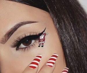 christmas, makeup, and nails image