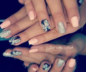 butterfly, manicure, and ideas image