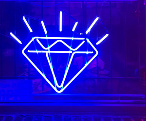blue, diamond, and neon image