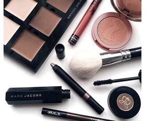 Brushes, make up, and marc jacobs image