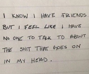 quotes, friends, and sad image