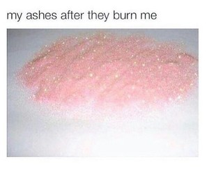 ashes, pink, and glitter image