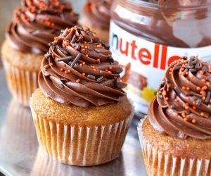 food, nutella, and cupcake image
