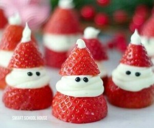strawberry and christmas image