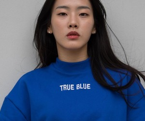 blue, girl, and asian image
