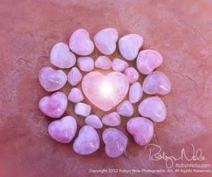heart, crystals, and pink image