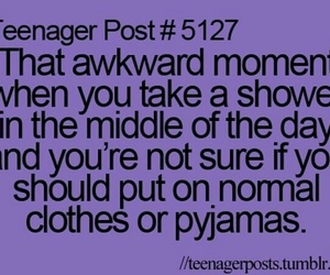 teenager post, shower, and pyjamas image