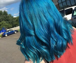 blue, alternative, and blue hair image