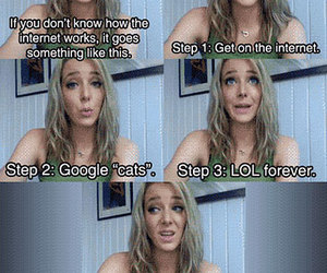 jenna marbles, cat, and lol image
